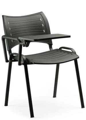 sobeltrade chaise conf rences et s minaires en polypropyl ne avec tablette critoire cr tab 28. Black Bedroom Furniture Sets. Home Design Ideas