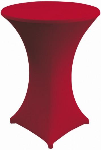 sobeltrade housse en stretch rouge pour tables mange debout. Black Bedroom Furniture Sets. Home Design Ideas