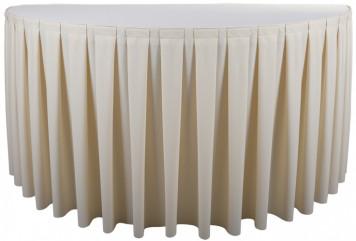 Sobeltrade juponnage pour tables plis plats - Comment faire des rideaux a plis francais ...